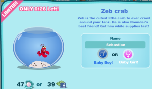 Happy Aquarium Zeb the Crab