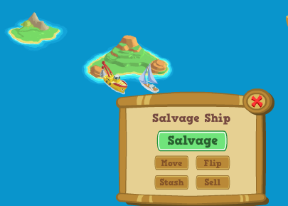 Happy Island Salvage Ship in the Archipelago