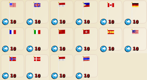 Hotel City international flags