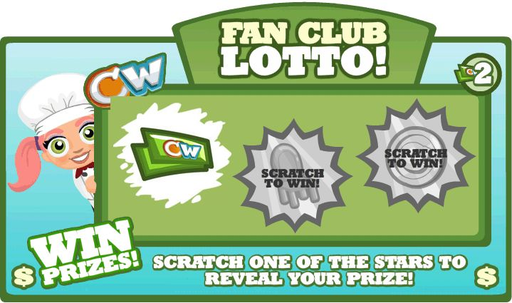 Cafe World lotto ticket