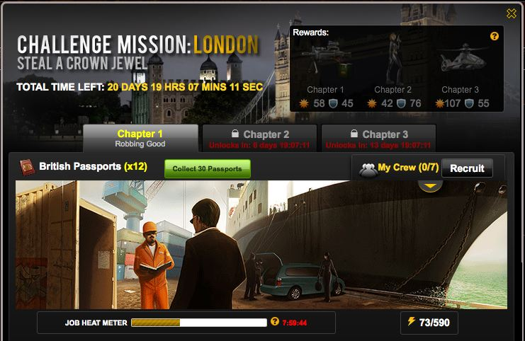 mafia wars challenge mission london opens
