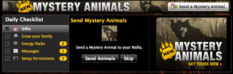 mafia wars mystery animals