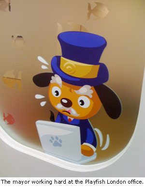 Pet Society Mayor in Playfish London office