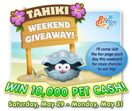 PetVille Tahiki Weekend Giveaway