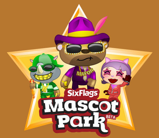 six flags mascot park