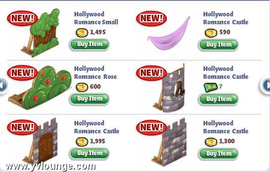 yoville hollywood movie sets