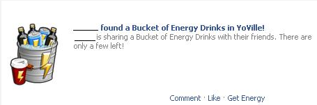 YoVille sharing Bucket of Energy