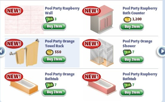 yoville summer bathroom items