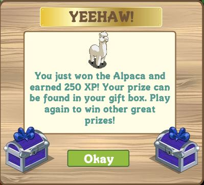FarmVille alpaca