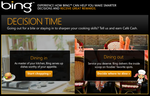Cafe World Bing Survey: Dining In or Dining Out