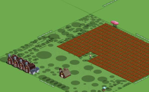 FarmVille Weird Loading Problem with Scattered Shaded Circles