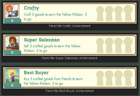 FarmVille Crafting Buildings Ribbon Achievements