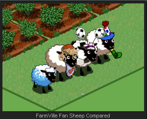 FarmVille Fan Sheep Comparison
