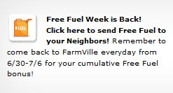 farmville free fuel week