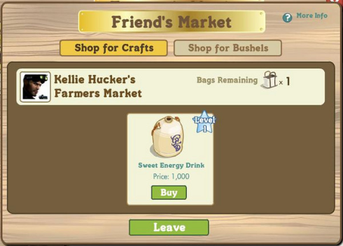 FarmVille Friend's Market Shop for Crafts