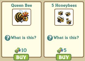 farmvilel queen bee, 5 honeybees