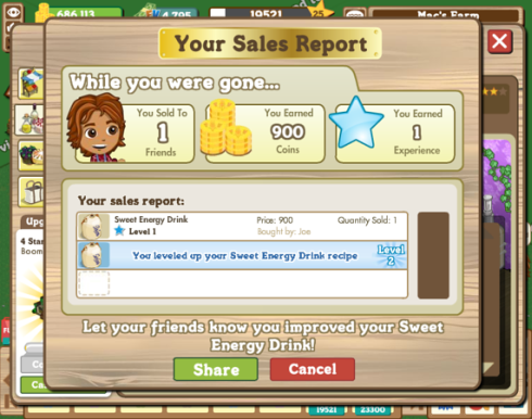 FarmVille Sales Report