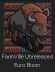 FarmVille Unreleased Euro Bison