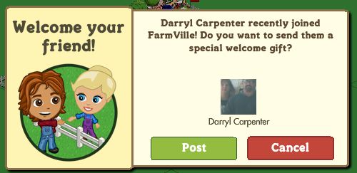 farmville friend welcome