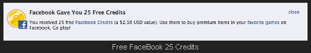 Free Facebook Credits from Facebook