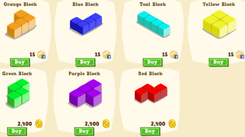 Happy Island Game Blocks