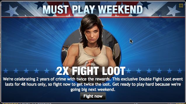 mafia wars must play weekend 2xfight