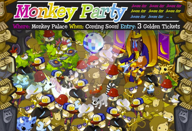 monkey party three golden tickets