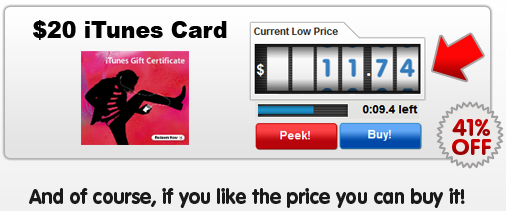 Penny Drop iTunes Card