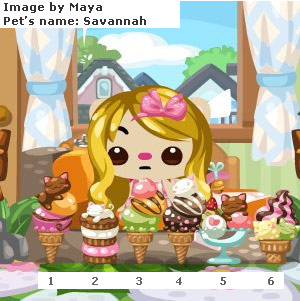 Pet Society Ice-Cream Cones and Flavors