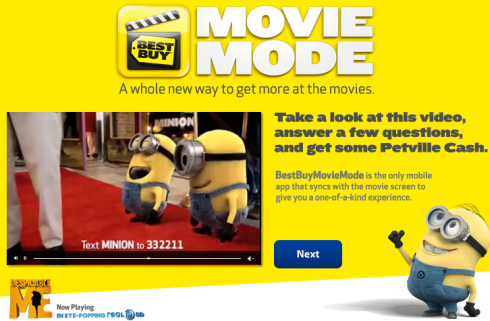 PetVille Best Buy Despicable Me in 3D Movie Mode