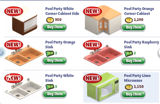 yoville pool party kitchen appliances