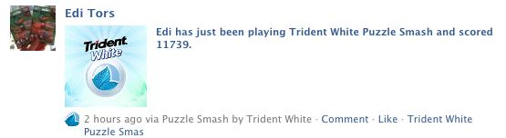 trident white facebook wall post
