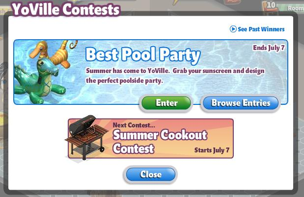 YoVille Best Pool Contest