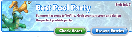 YoVille Best Pool Party Check Votes