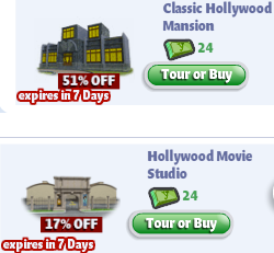 YoVille Classic Hollywood Mansion and Hollywood Movie Studio