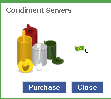 YoVille Condiment Servers