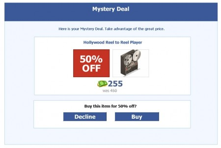 YoVille Mystery Deal 50% off
