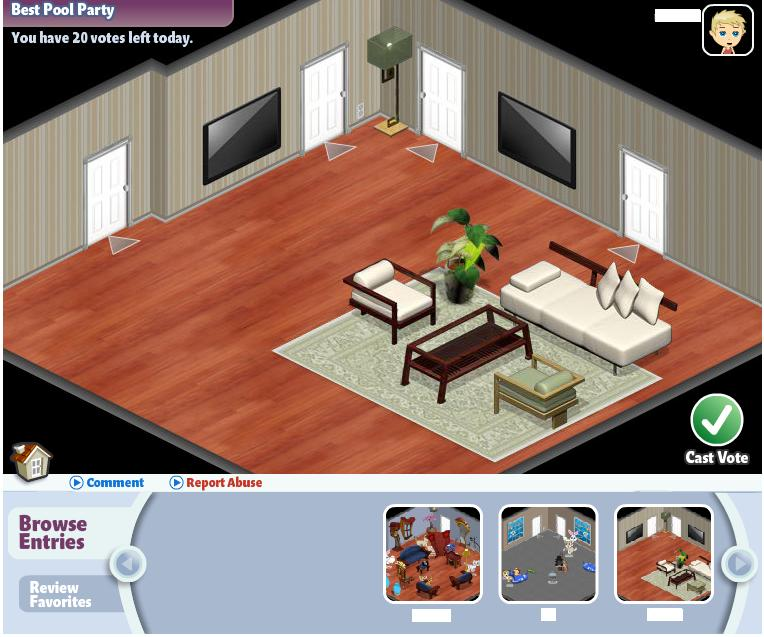 YoVille Room Contest Browse