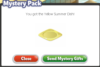 YoVille Yellow Summer Dish