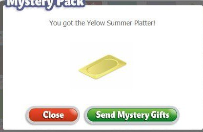 YoVille Yellow Summer Platter