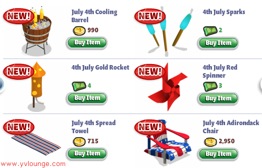 YoVille July 4th items 04