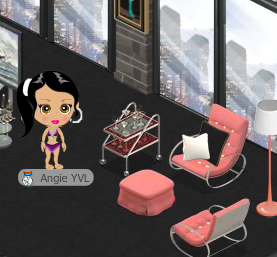 YoVille Widget Factory Tray in room