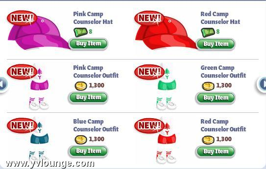 yoville camping clothing