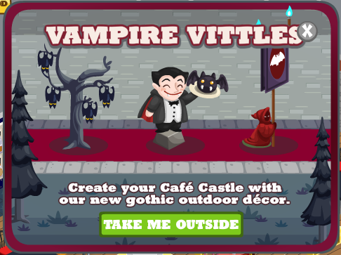 Cafe World Vampire Vittles outdoors decorations