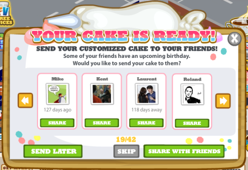 Cafe World: Your Cake is Ready!