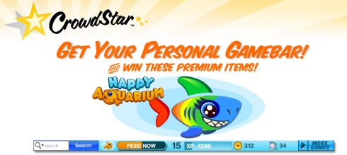 Crowdstar Gamebar offers free Rare Rainbow Shark
