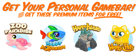 Crowdstar Gamebar free Premium Items