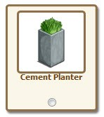 FarmVille.com Exclusive Gift Cement Planter