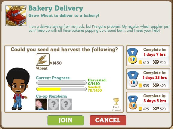 farmville bakery delivery mission