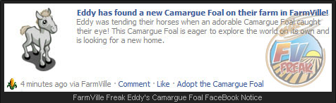 FarmVille Camargue Foal Wall Post